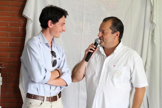 Le Novillero KIKE et le Président de la Mariposa