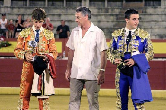 Le Maestro José Luis PALOMAR avec Fernado REY et Victor TALLON.